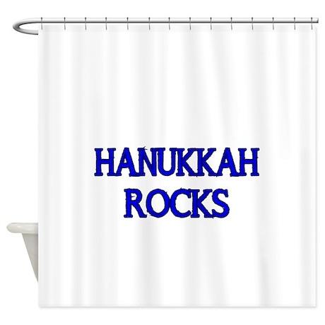 HANUKKAH ROCKS Shower Curtain