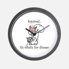 Dinner Squirrel Wall Clock