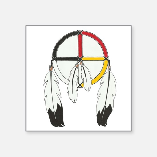 Feathered Medicine Wheel Sticker