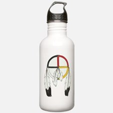 Feathered Medicine Wheel Water Bottle