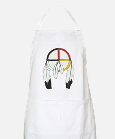 Feathered Medicine Wheel Apron