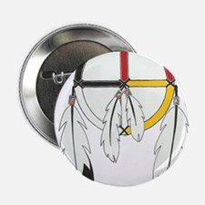 "Feathered Medicine Wheel 2.25"" Button"