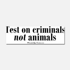 Cool Animal rights Car Magnet 10 x 3