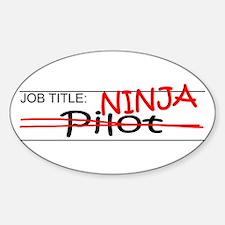 Job Ninja Pilot Decal