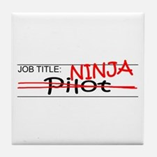 Job Ninja Pilot Tile Coaster