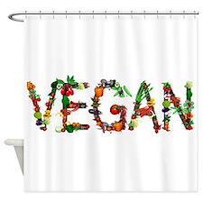 Vegan Vegetable Shower Curtain