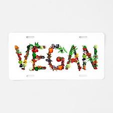 Vegan Vegetable Aluminum License Plate