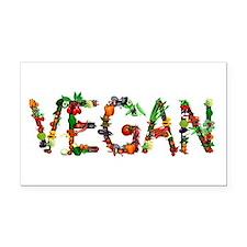 Vegan Vegetable Rectangle Car Magnet
