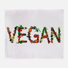 Vegan Vegetable Throw Blanket