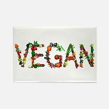 Vegan Vegetable Rectangle Magnet (100 pack)