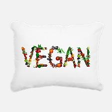 Vegan Vegetable Rectangular Canvas Pillow