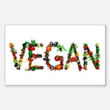 Vegan Vegetable Sticker (Rectangle)