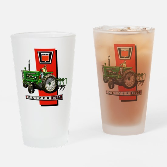 Oliver 1550 tractor Drinking Glass