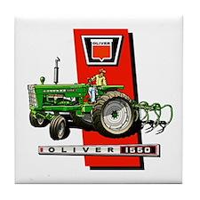 Oliver 1550 tractor Tile Coaster