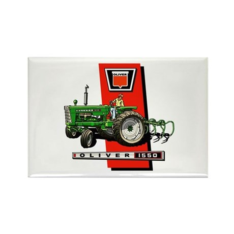 Oliver 1550 tractor Rectangle Magnet