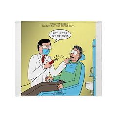 Dentist No Nos Throw Blanket