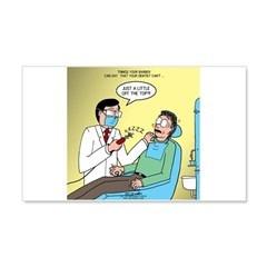 Dentist No Nos 20x12 Wall Decal
