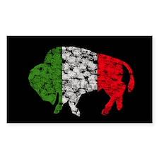 Irish Buffalo Rectangle Decal