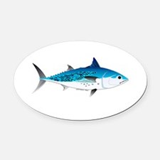 Little Tunny False Albacore Oval Car Magnet