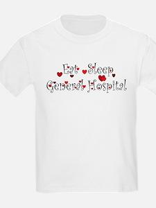 General Hospital heart eat sleep large T-Shirt