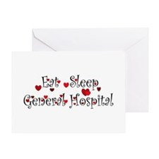 General Hospital heart eat sleep large Greeting Ca