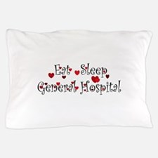 General Hospital heart eat sleep large Pillow Case