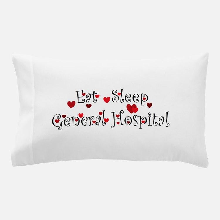 General Hospital heart eat sleep large Pillow Case
