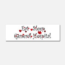 General Hospital heart eat sleep large Car Magnet