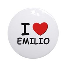 I love Emilio Ornament (Round)