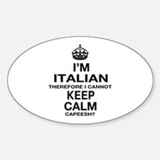 Keep Calm and Italian pride Decal