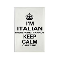 Keep Calm and Italian pride Rectangle Magnet (10 p