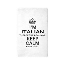 Keep Calm and Italian pride 3'x5' Area Rug