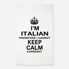 Keep Calm and Italian pride 3'x5' Area Rug