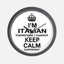 Keep Calm and Italian pride Wall Clock