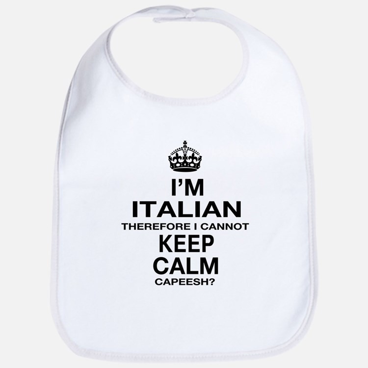 Keep Calm and Italian pride Bib