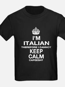 Keep Calm and Italian pride T