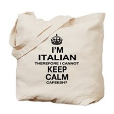 Keep Calm and Italian pride Tote Bag