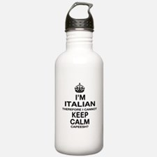 Keep Calm and Italian pride Water Bottle