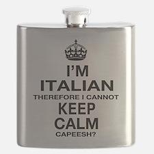 Keep Calm and Italian pride Flask