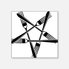 Fork Pentagram Sticker