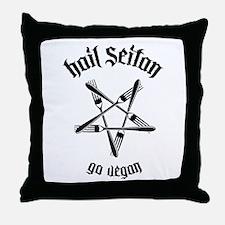 Hail Seitan - Go Vegan No.1.1 Throw Pillow