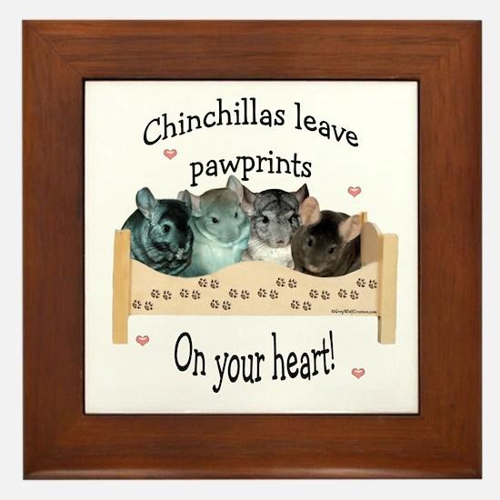 Chin Pawprints Framed Tile