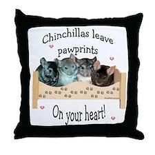 Chin Pawprints Throw Pillow