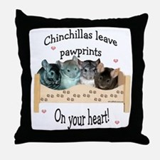 Chin Pawprints Throw Pillow