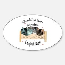 Chin Pawprints Oval Decal