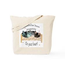 Chin Pawprints Tote Bag