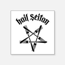 "Hail Seitan 1.2 Square Sticker 3"" x 3"""