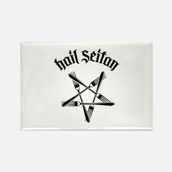 Hail Seitan 1.2 Rectangle Magnet