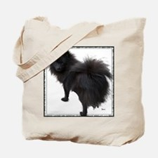 Black Pomeranian Tote Bag