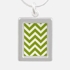 Chartreuse Chevron Necklaces